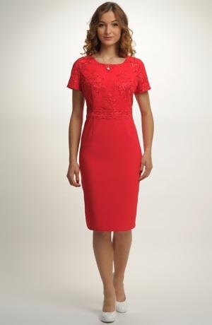 Dámské červené koktejlové šaty, luxusní koktejlky