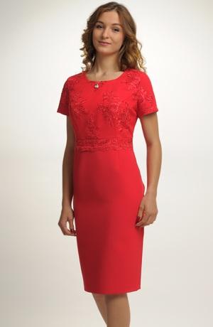 Dámské červené koktejlové šaty
