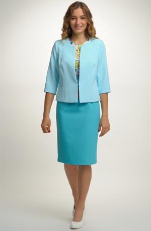 Luxusní dámské sako z elastické tkaniny