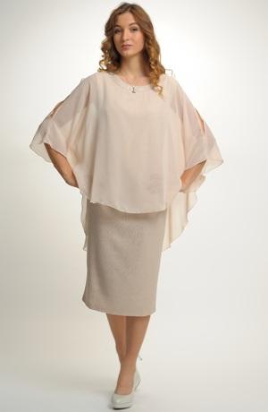 Dámské společenské šaty vhodné pro velké a nadměrné velikosti (XXL, XXXL, XXXXL)