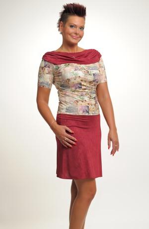 Společenský letní top se sukní