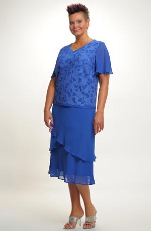 Dámské společenské šaty pro plnoštíhlé. Velikosti 50, 52, ..., i pro boubelky