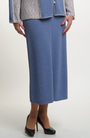 Pletená sukně dlouhá pro plnoštíhlé