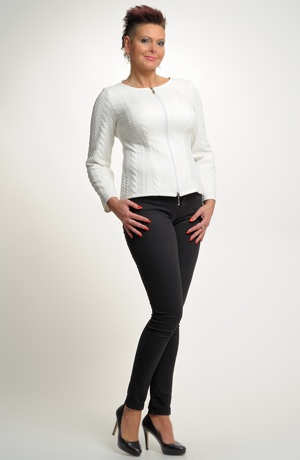 Pleteninový svetr na zip - kabátek