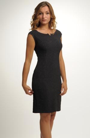 Krátké malé černé šaty na maturitní ples - vel. 38, 40, 42, 44