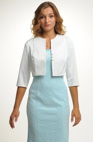Krátký kabátek na šaty - smetanový