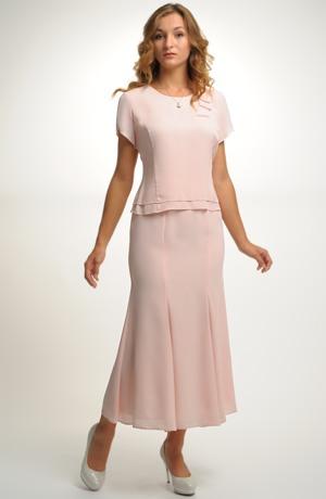 Dámský trojkomplet s dílovou sukní.