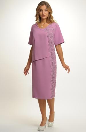 Elegantní šaty do společnosti i na svatbu pro plnoštíhlé