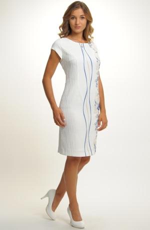 Dámský komplet- pouzdrové šaty s kabátkem
