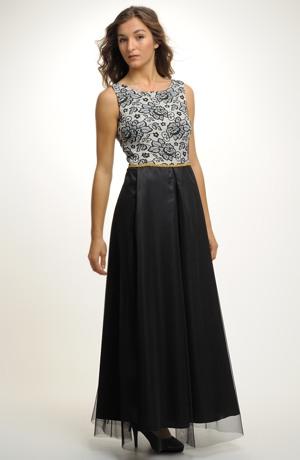Dlouhé černé plesové šaty pro velikosti, 36, 38, 40, 42