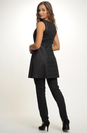 Společenské tunikové šaty - šatová sukně