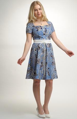 Dívčí šaty z bavlny s potiskem