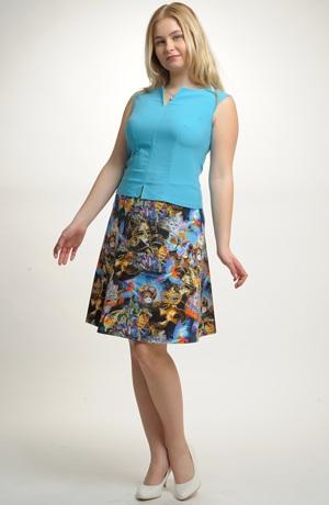 Dámská sukně s výrazným vzorem