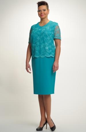 Dámské společenské šaty pro plnoštíhlé. Velikosti 48, 50, ..., i pro boubelky