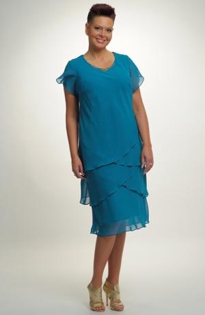 Krátké společenské šaty pro plnoštíhlé. Velikosti 46, 48, ..., i pro boubelky