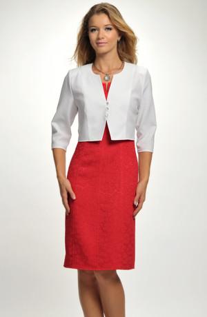 Krátký kabátek k šatům