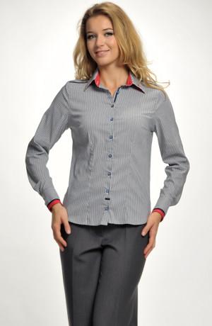 Dámská elastická košile s proužky
