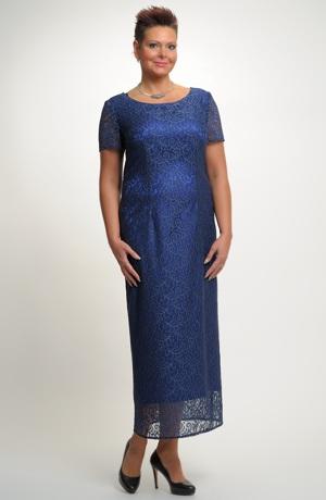 Luxusní krajkové šaty na svatbu pro plnoštíhlé postavy