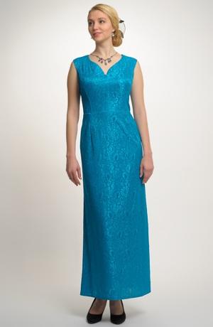 Luxusní dlouhé šaty z krajky