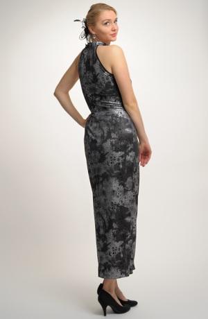 Dívčí plesové šaty z elastické pleteniny.. Plesovky ve vel. 42