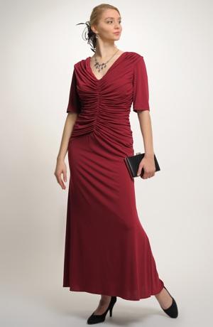 Dlouhé večerní společenské šaty XXXL