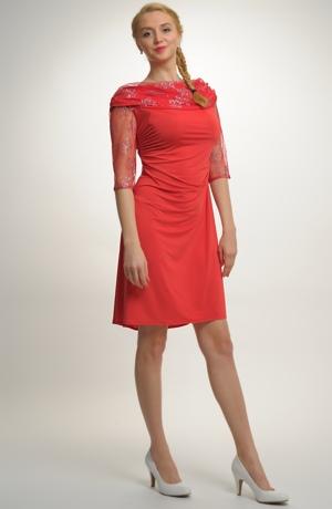 Elegantní dámské červené koktejlové šaty z elastické tkaniny, vel.42,