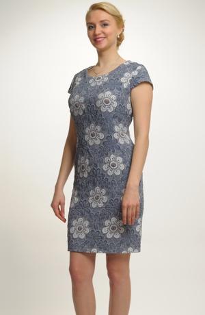 Společenské koktejlové šaty pro plnoštíhlé