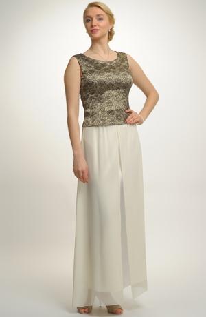 Nadčasový komplet tvoří společenská halenka a dlouhá sukně