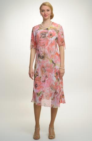 Elegantní společenské šaty ve velikosti 46 až 50