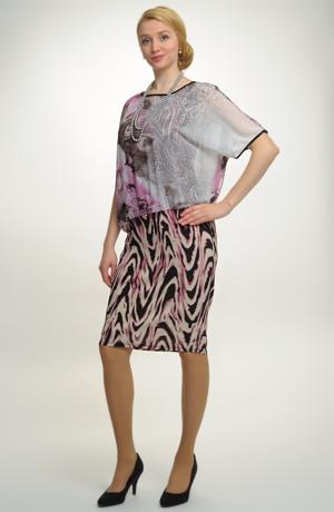 Společenské šaty s jemným vzorem