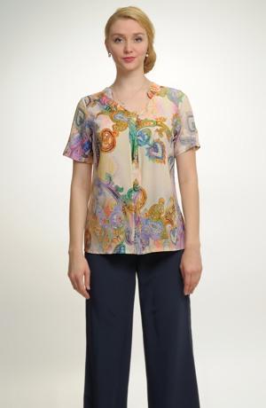 Dámská košilová halenka na léto