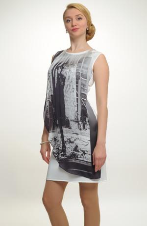 Dívčí krátké společenské šaty v jednoduché línii. Vel. 38, 40, 42, 44