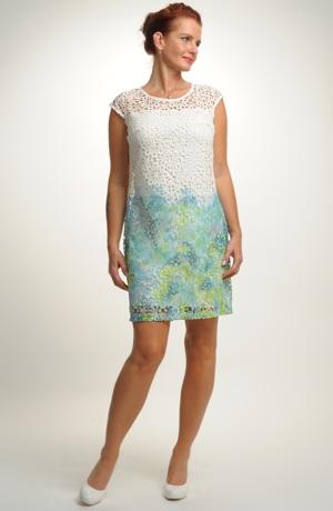 Elegantní společenské krajkové šaty