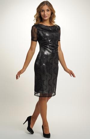 Černo stříbrné šaty - koktejlky