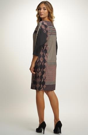Pleteninové šaty na kolena vhodné do kanceláře, recepce...