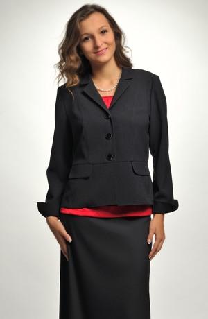 Elegantní dámské černé sako pro univerální použiti.