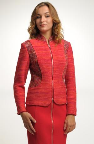 Dámský pletený kabátek z jemného melíru