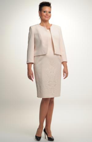 Velmi elegantní dámské společenské koktejlky s kabátkem