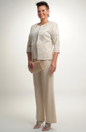 Dámský kabátek - sako z žakárové tkaniny