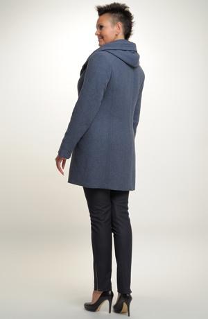 Elegantní dámské paleto z vlněné tkaniny