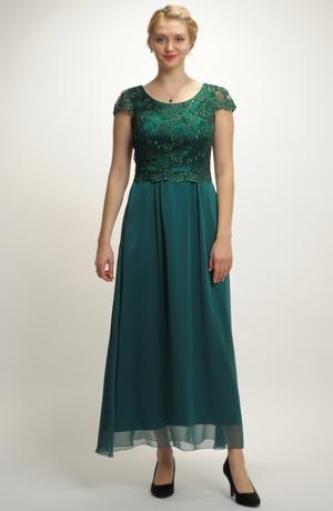 Dlouhé plesové, společenské, večerní šaty s krajkou, vel. 40 až 48
