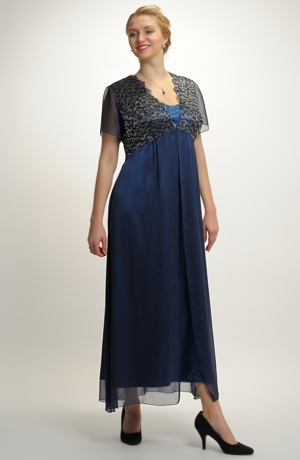 Šifonové šaty ve velikosti 48, 50... / XL, XXL, XXXL
