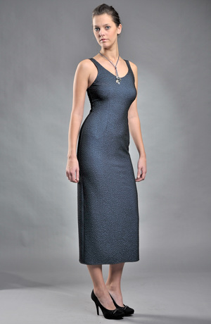 Společenské šaty s kabátkem z elastické pleteniny