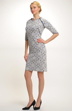 Pleteninové pouzdrové šaty vhodné do práce i do společnosti