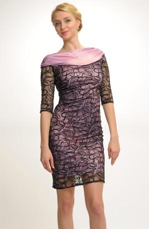 Elegantní pouzdrové společenské šaty