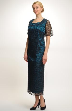 Luxusní dlouhé společenské šaty 2017 z krajky - vel. 52