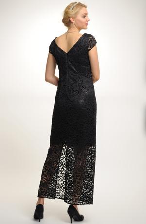 Elegantní plesové večerní šaty z krajky, vel. 42