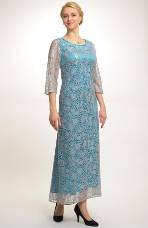Velmi elegantní plesové šaty z luxusní krajky, Velikost 48