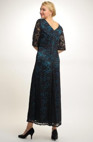 Dámské plesové dlouhé šaty pouzdrového střihu, vel. 46