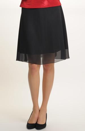 Černá sukně vhodná do tanečních